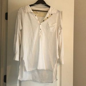 Free people cream color tunic